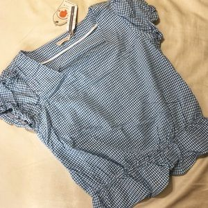 NWT Anthropologie Tulle Checkered Top